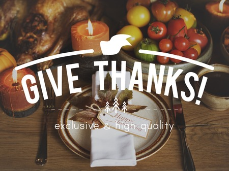 Thanks Giving Celebration Gracias Love Stock Photo
