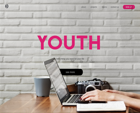 Hipster Freedom Youth Teenager Graphic Word Stock Photo
