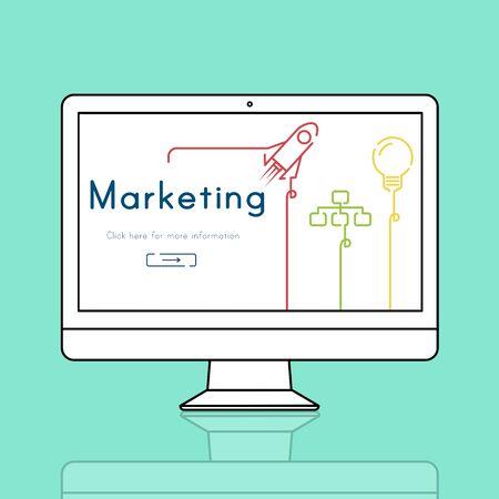 Marketing Branding Business Strategy Planning Фото со стока