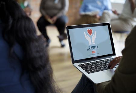 Charity Volunteer Giving Helping Hands Imagens