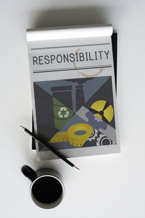 責任重要性責任図概念 写真素材
