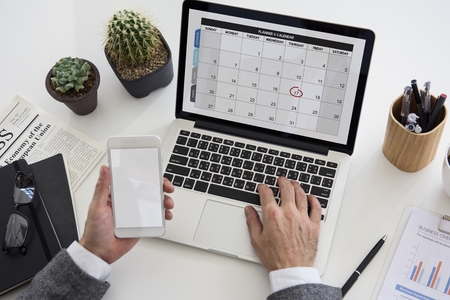 appointing: Personal Organizer Management Schedule Planning Stock Photo