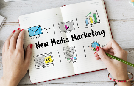 Online Strategy Media Marketing Icons