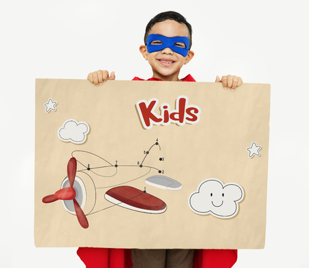 showoff: Children fun connect the dots airplane graphic