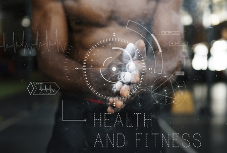 Wellness Health Lifestyle Workout Graphic Word Stock Photo