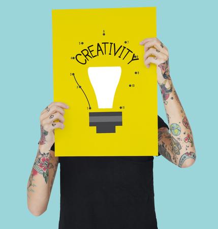 Be Creative Insight Vision Icon Stok Fotoğraf