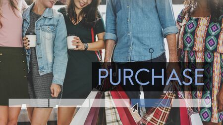 Purchase Sale Discount Fashion Style Reklamní fotografie
