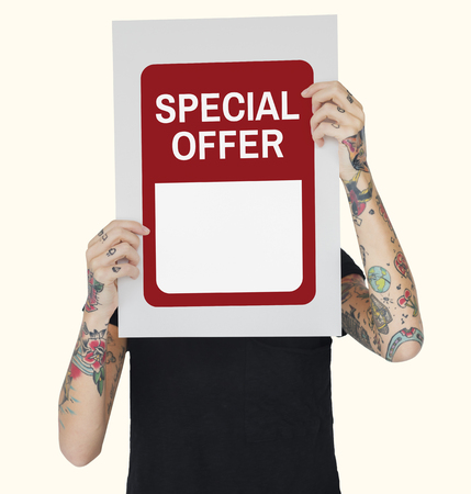 Sale Special Offer Buying Selling Discount Banco de Imagens