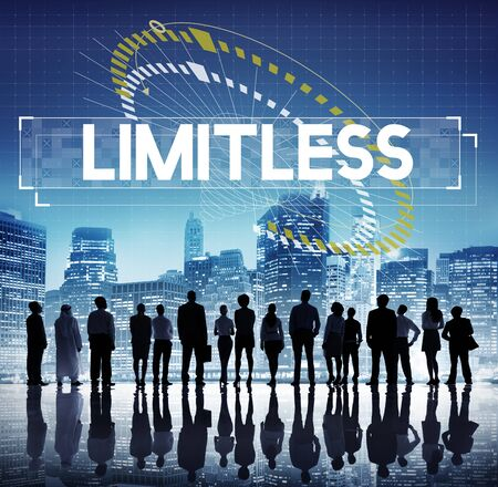 Dare to dream limitless motivation inspire to success graphic Stock Photo
