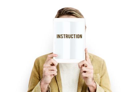 Instruction Direction Installation Regulations Guideline Stock Photo