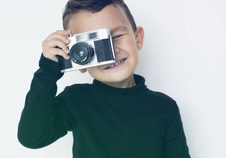 Boy Photographer Camera Hobby Leisure Studio Portrait