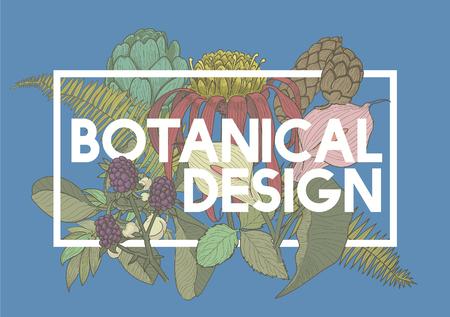 Diseño Botánico Vector Concepto Foto de archivo - 78256791