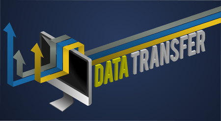 Data Transfer Network Word Concept