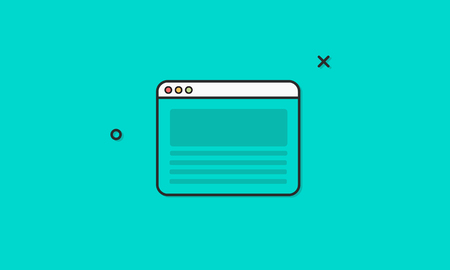 icons site search: Browser Internet Homepage Icon Vector Concept