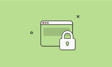 Web security homepage vector illustration