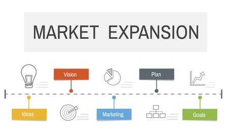 事業開発投資計画グラフィック デザイン