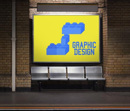 Building blocks structure design graphic