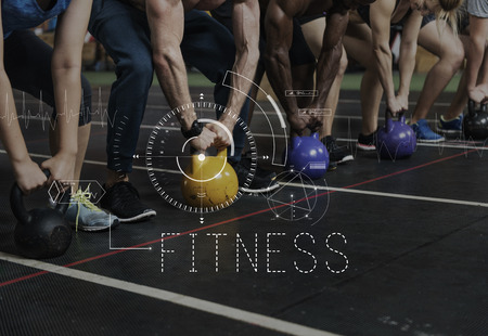 Fitness Healthy Training Exercise Heartbeat Pulse Trace Stock Photo