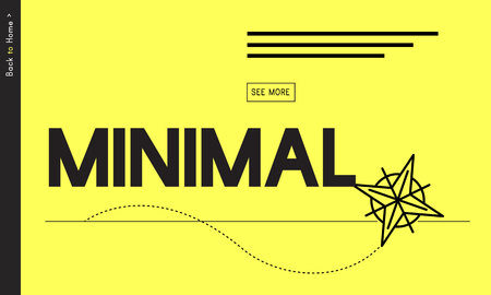 Minimal Minimum Icon Symbol Yellow 版權商用圖片