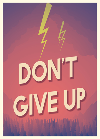 Quote for aspiration and motivation with storm graphic Stock Photo