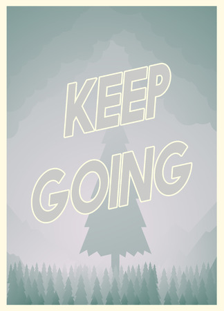 Keep going with poster design