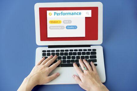 Verbeter de prestatie potentiële verbetering van de prestaties Stockfoto