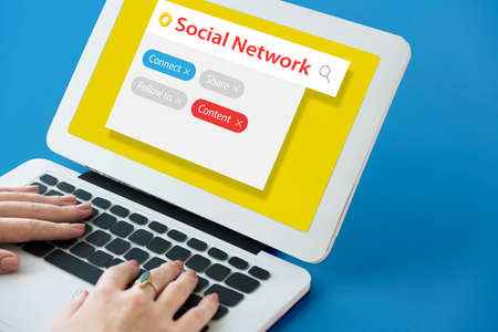 디지털 커뮤니케이션 소셜 미디어 그래픽 단어 아이콘 스톡 콘텐츠 - 78279009