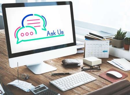 Ask Us Internet Assistance Concept