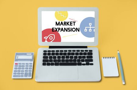 stock market launch: Business Entrepreneurship Plan Success Icons