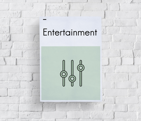 Music Streaming Media Entertainment Equalizer Stok Fotoğraf