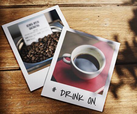 Drink on coffee lover word Фото со стока