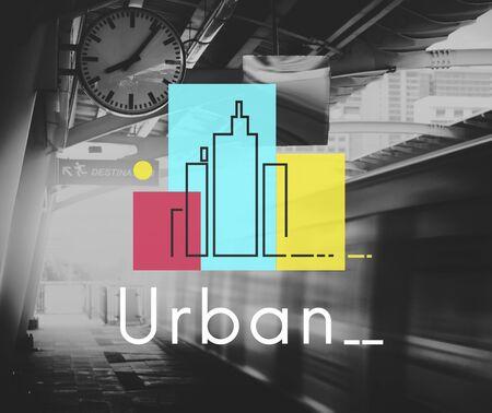 Illustration of concrete jungle urban scene city life Stock Illustration - 78271909