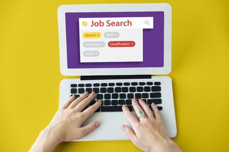 Jon Search Employment Recuritment Resume Stok Fotoğraf