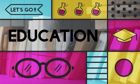Onderwijs Academics glazen pictogram Graphics Stockfoto