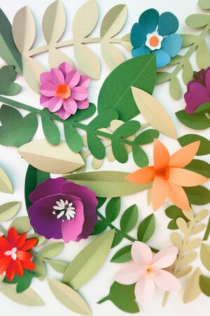 Flower Papercraft Art Activity Handmade Stock Photo