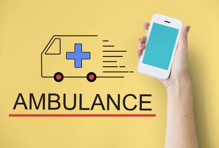 Ambulance accidentelle Situation d'urgence d'urgence Banque d'images - 78272177