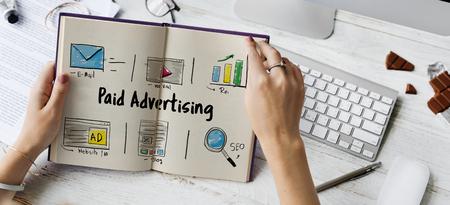 オンライン マーケティング商業接続技術 写真素材