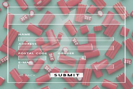 Register Username Account Summit Banner Stock Photo