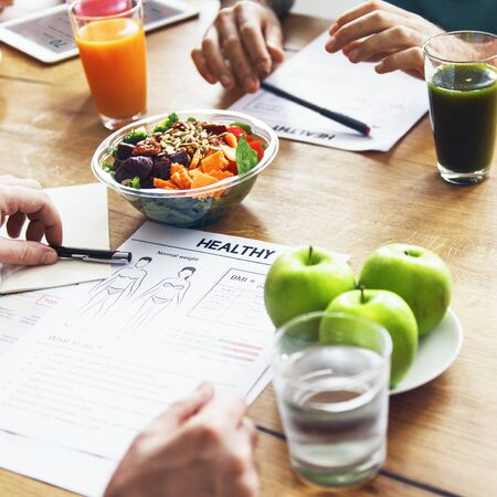 study group: Healthy Lifestyle Diet Nutrition Concept