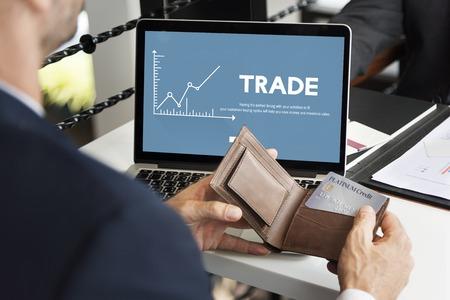 Forex Investment Stock Market Economy Trade Concept Stock Photo - 78281712