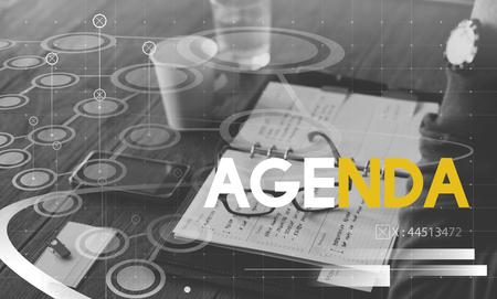 Agenda Meeting Planning Business Word