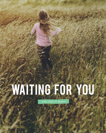 Waiting For You Word Text Stock Photo