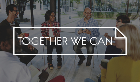 Together We Can Connection Friendship Stock Photo