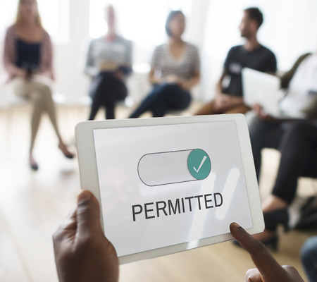 allowance: Permitted Allowance Approve Corporate Permission Stock Photo