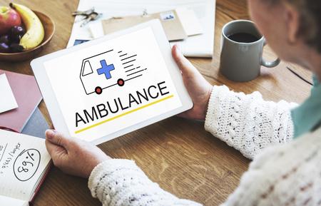 medical technology: Ambulance Accidental Emergency Urgent Situation Stock Photo