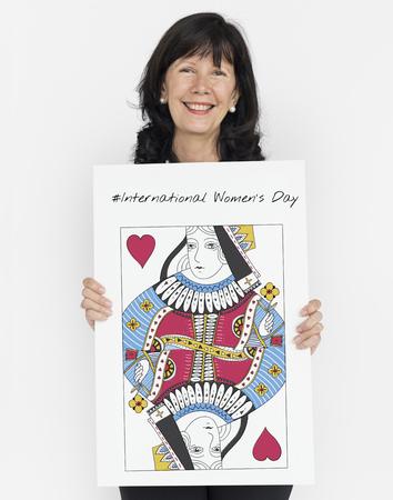 女性の権利の女王カードの概念 写真素材