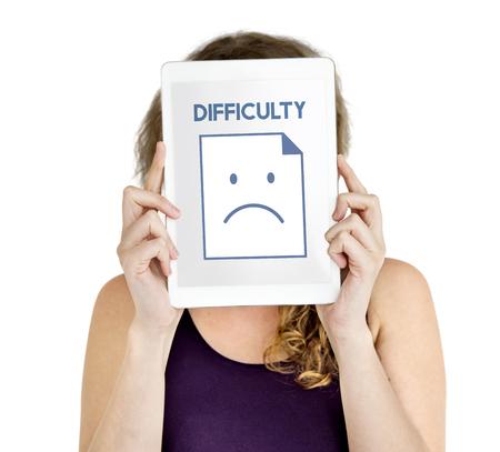 Sadness Fail Problem Recession Down Frustration Icon Reklamní fotografie - 78394306