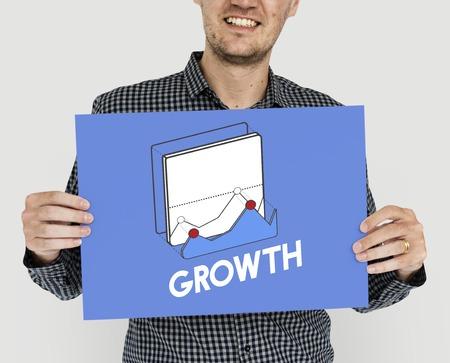 Mann mit Wachstumskonzept