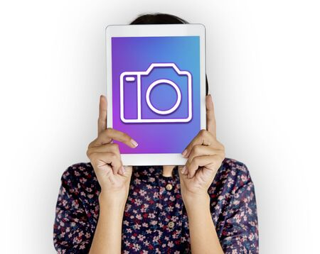 Photo Camera Creative Design Icon Banco de Imagens - 78395065