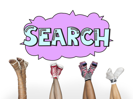 Search Speech Bubble Online Information Networking Concept